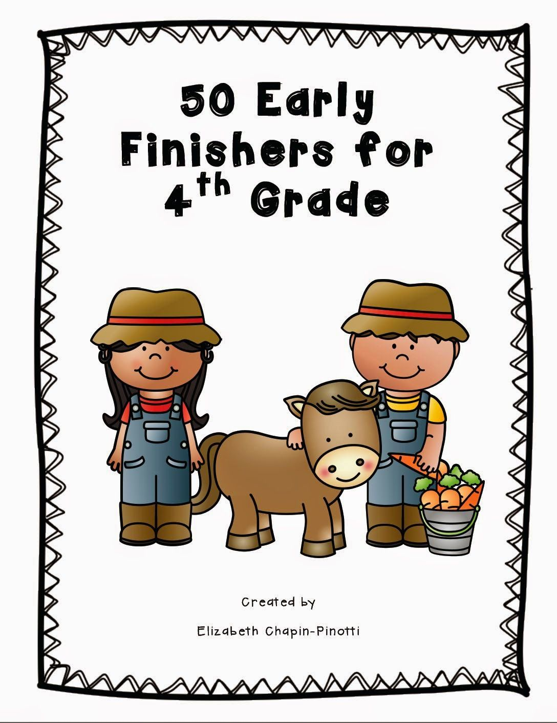 Fifty Early Finishers For Fourth Grade On Sale
