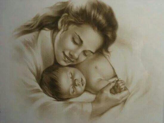 حضن الام Motherhood Painting Mothers Love Cross Paintings