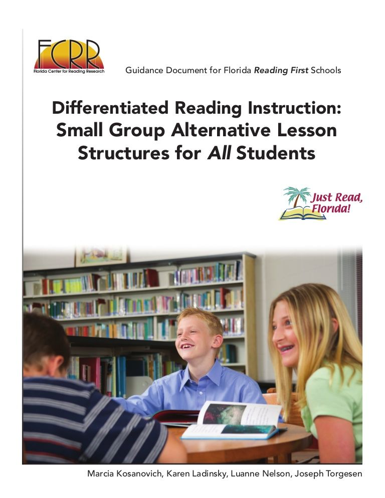 FCRR Small Group Alternative Lesson Structures by Hialeah Gardens High School via slideshare