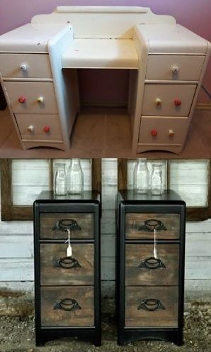 Matching Night Stands Made From An Old Dressing Table Solid Wood
