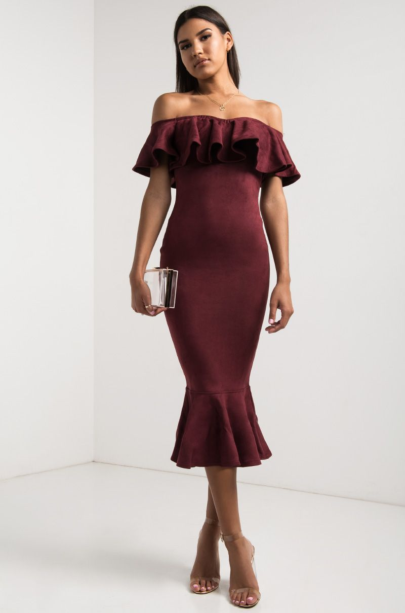 Stunning Mauve Dress - Seashell Print Dress - Flounce