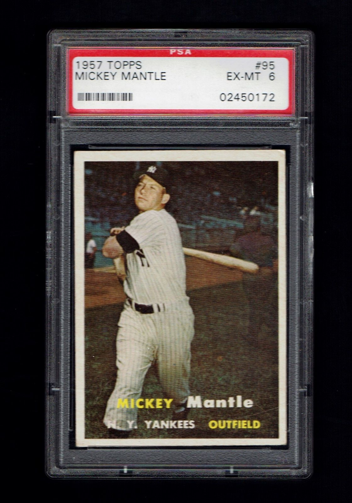 1957 Topps 95 Mickey Mantle PSA 6 Yankees MickeyMantle