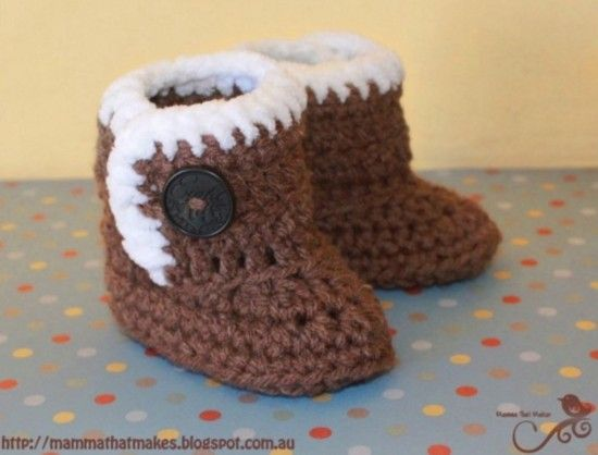 Crochet Ugg Booties Pattern Free Easy Video Tutorial | Crochet ...