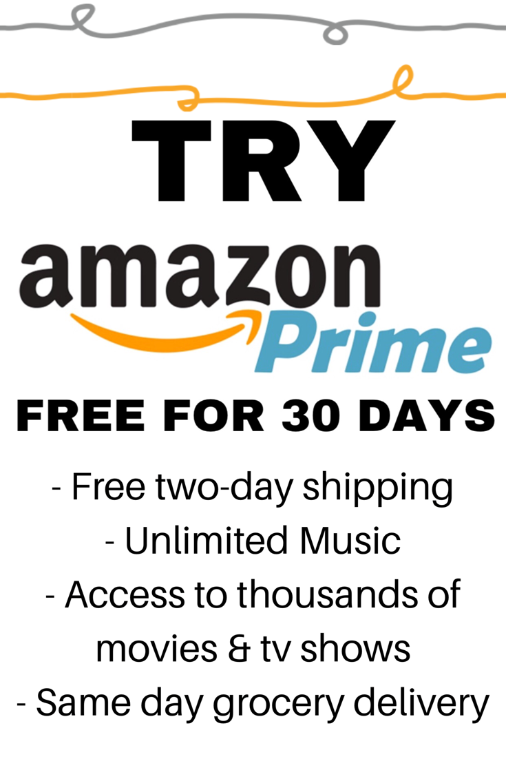 Free Prime For 30 Days Cancel At No Cost Or Penalty If You Re Not