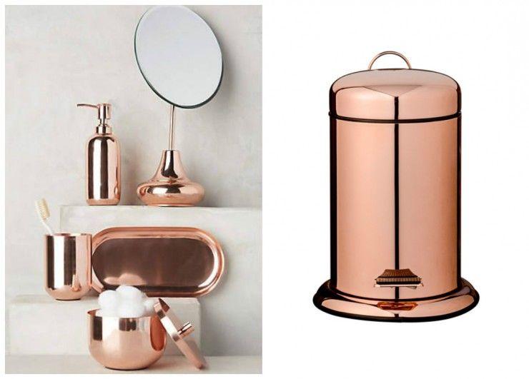 set de salle de bain en cuivre anthropologie poubelle de seb blomingville - Salle De Bain Cuivre