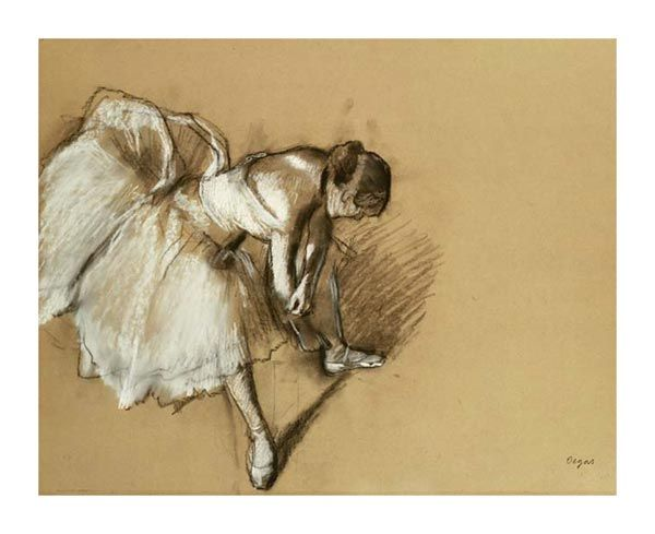 Edgar Degas  Dancer Adjusting Her Shoe