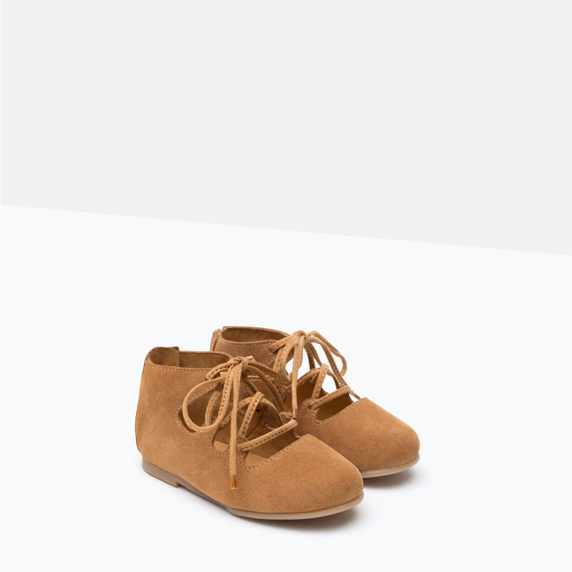 Skorzane Sznurowane Balerinki Buty Niemowle Dziewczynka 3 Miesiace 3 Lata Dzieci Baby Girl Shoes Zara Shoe Laces