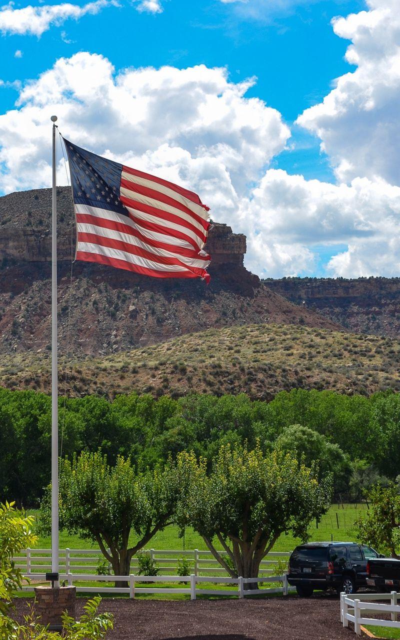 Wallpaper United States Ranch Utah Farm America Flag In 2020 United States America Flag America