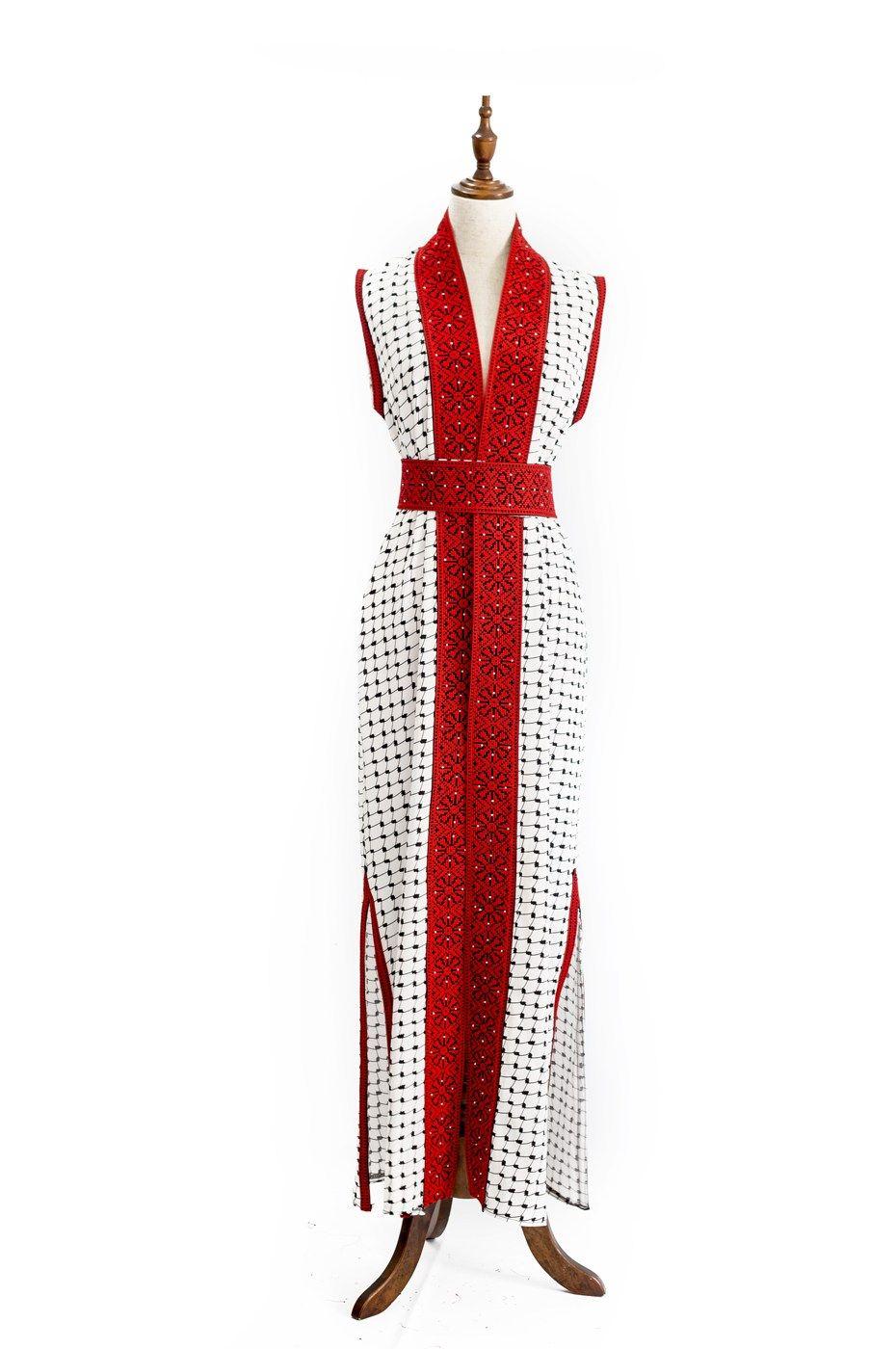 بشت كوفية مطرز متجر السندس Fashion Dresses Wrap Dress