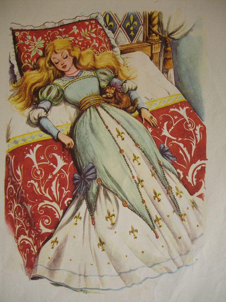 Sleeping Beauty Vintage Illustration