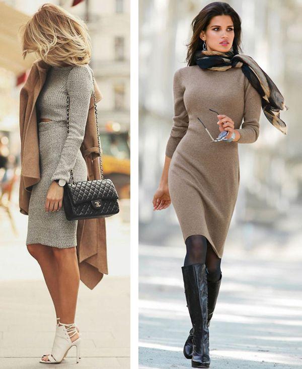 Трикотажные платья фото с чем носить фото
