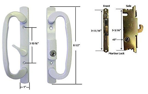 Sliding glass patio door handle set with mortise lock white sliding glass patio door handle set with mortise lock white keyed 3 planetlyrics Images