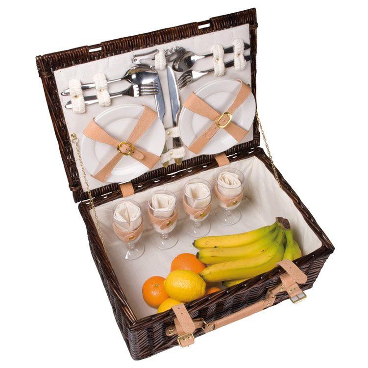 Koszyk Piknikowy Z Wyposazeniem Dla 4 Osob 4209619945 Oficjalne Archiwum Allegro Picnic Basket Picnic Basket