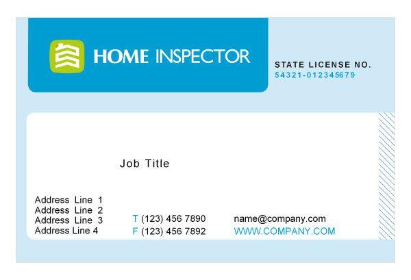 Business Card Inspector Home Inspector Print Template Pack - Business card print template