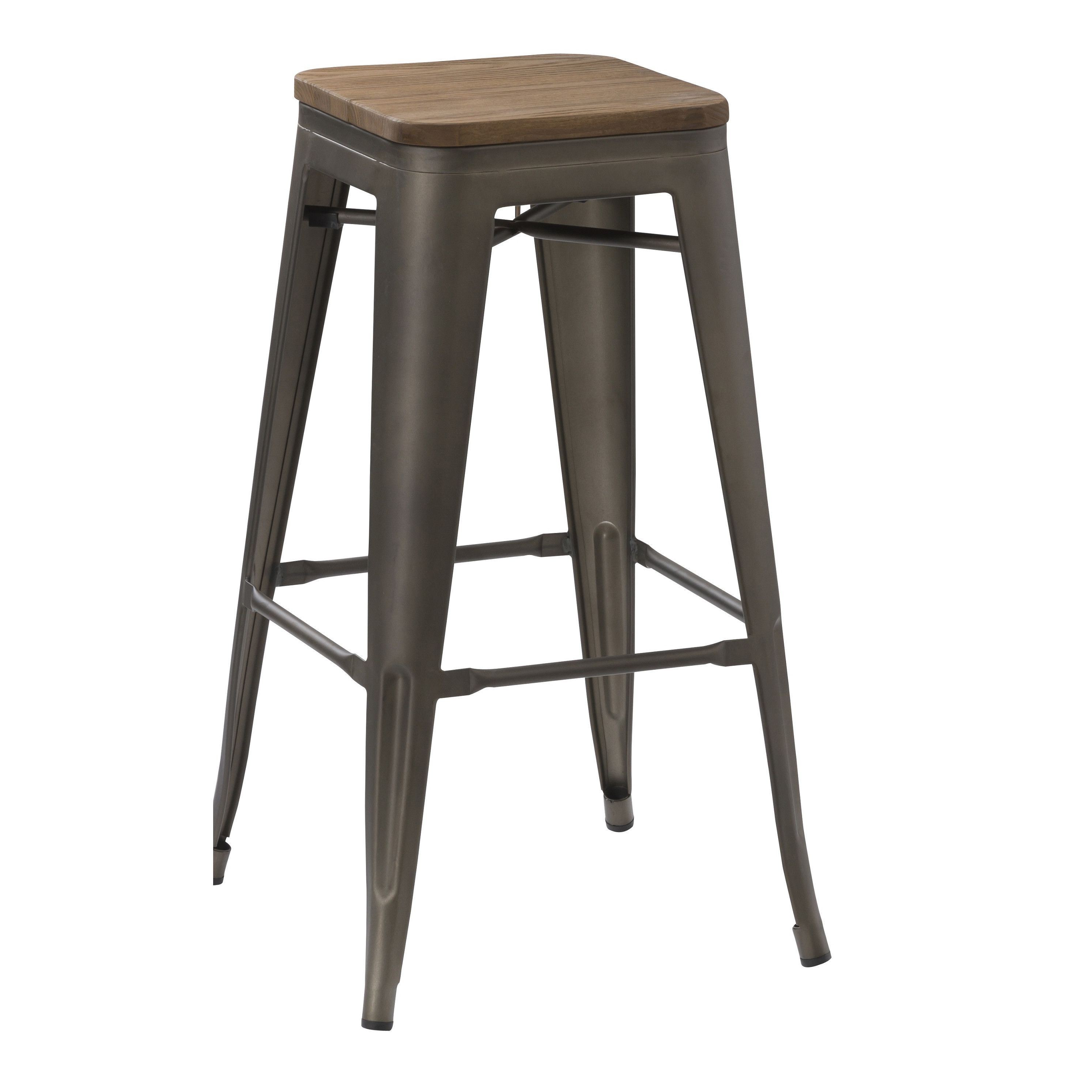 Design Lab MN Dreux Counter Stool   Set Of 4   The Design Lab MN Dreux Counter  Stool   Set Of 4 Captures The Industrial, Chic Look Of The Classic French  ...