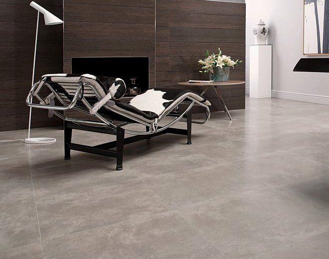 Porcelanosa Cemento Silver Tile  Concrete look in a