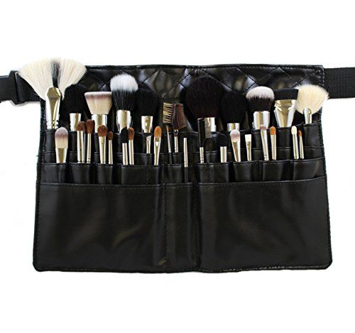 Pu Leather Makeup Cosmetic Pouch Case Waist Shoulder Belt Bag For Brush Kit Set Makeup Brush Belt Makeup Brush Roll Makeup Brushes