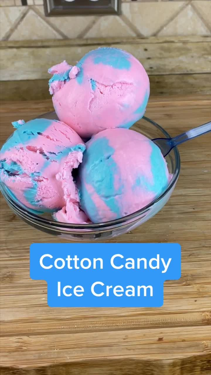 Cotton Candy Ice Cream.  What's your favorite ice