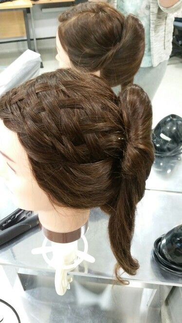 Basket weave braid incoparated in to out up by Danielle covington