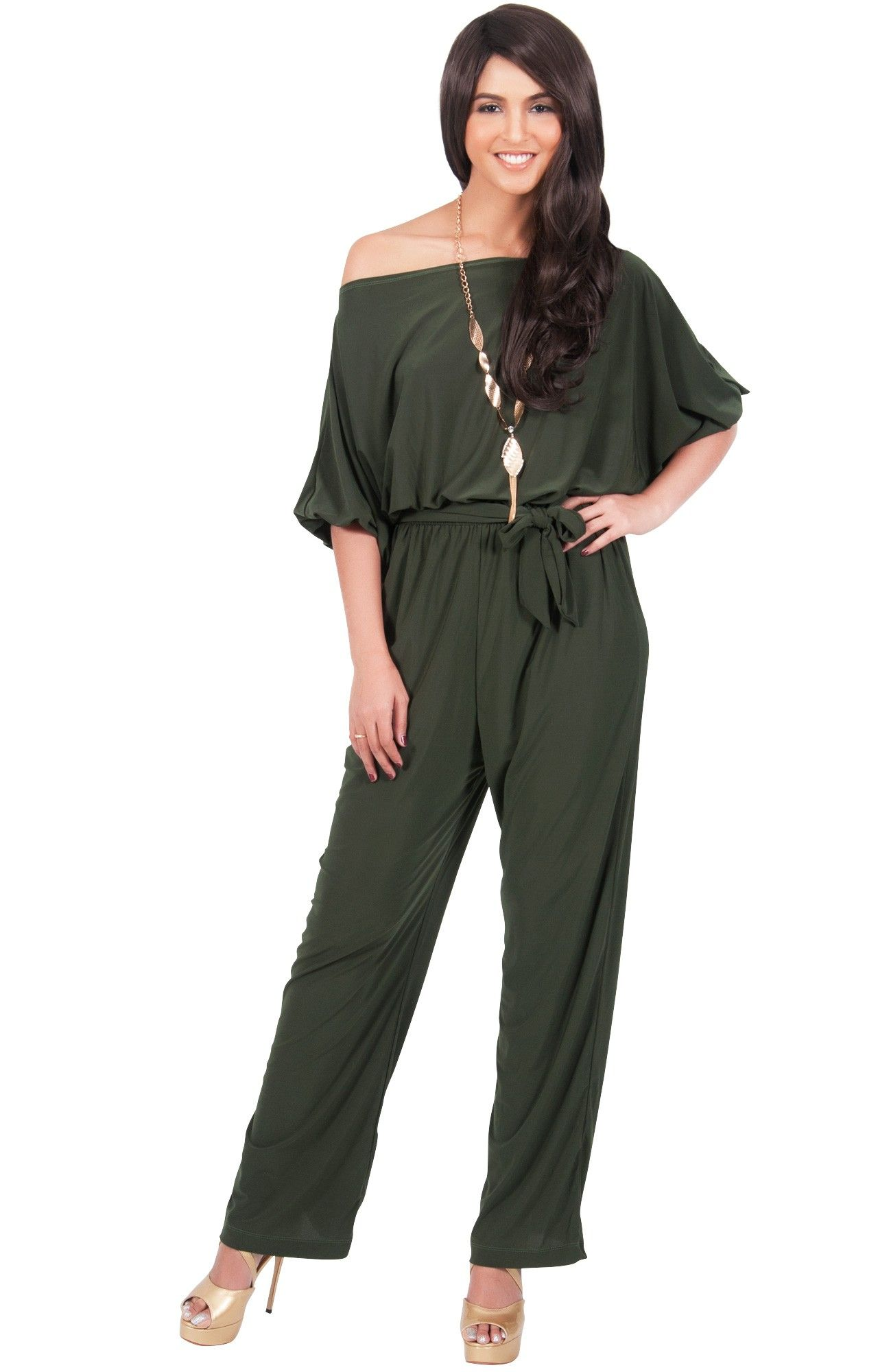 9d87a3ab My chosen Mother of the Bride outfit... JENNY - One/Off Shoulder 3/4 Sleeve  Jumpsuit