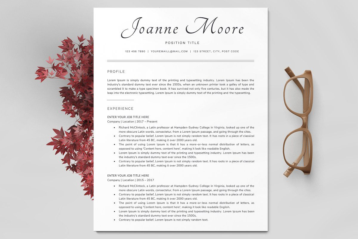 Ad resume template cv by theresumecoach on