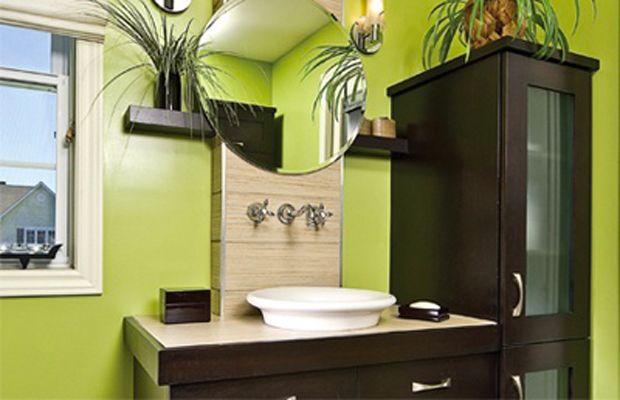 Vert, une couleur pour une salle de bain fraiche et tonique ...
