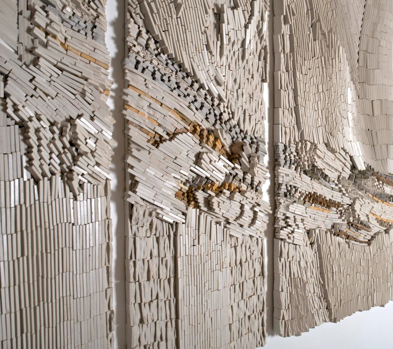 Glen Michaels Mosaic Pentaptych Winter Wind 72 X 49 1stdibs