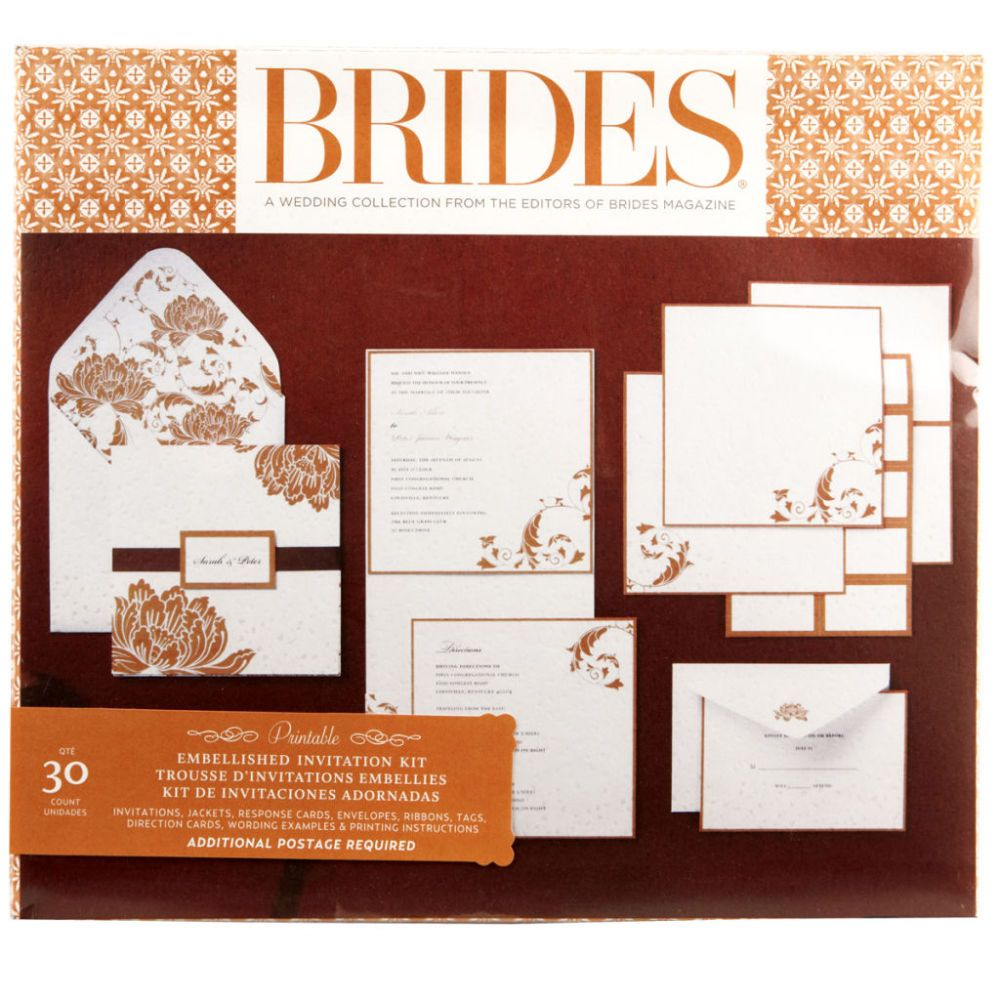 Brides® Orange Pocket Invitation Kit | I give in my wedding wishes ...