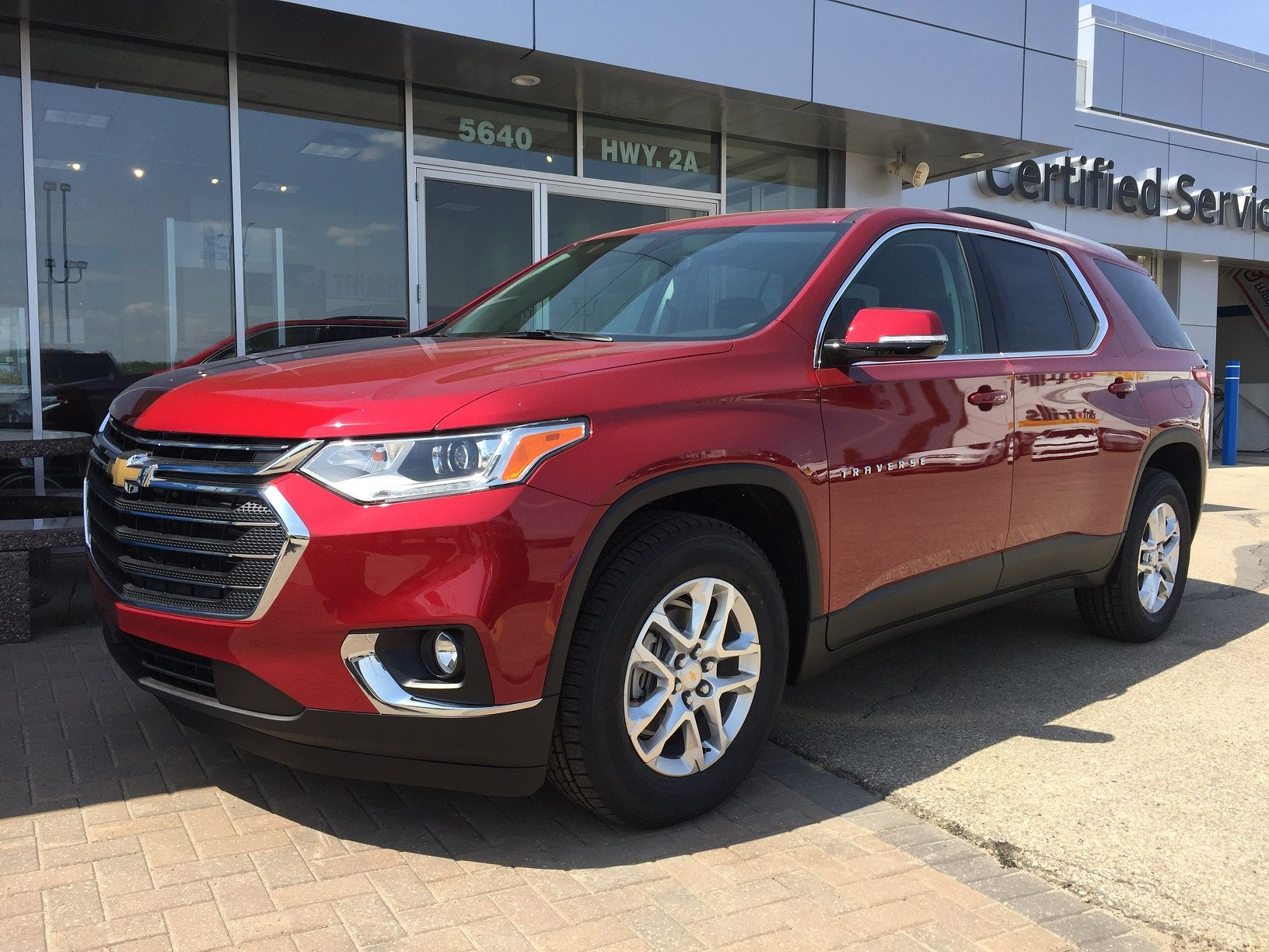 2018 Chevrolet Traverse Red Awd 7 Seater In 2020 Chevrolet