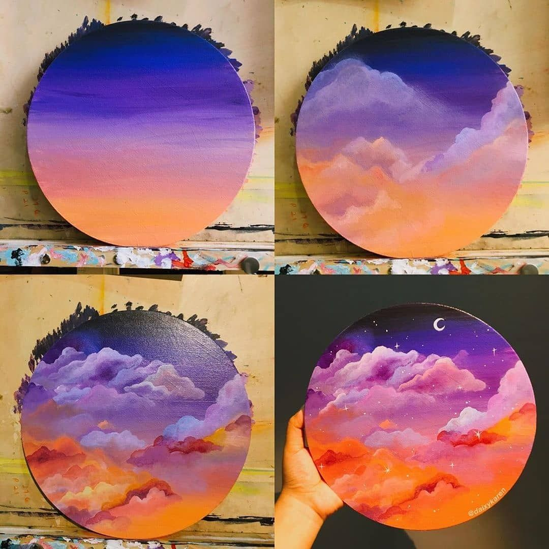 What A Marvelous Acrylic Painting By Daixykaren What Do You Think About It No Vinyl Record Art Painting Art Projects Canvas Art Painting