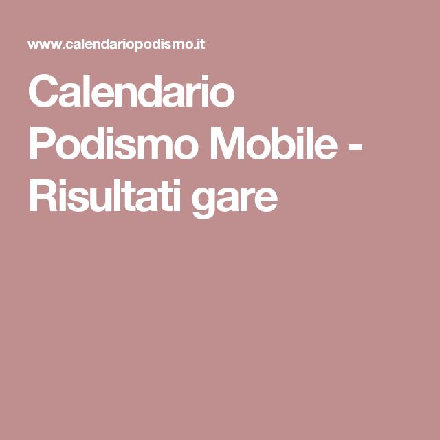Calendario Gare Podismo.Calendario Podismo Mobile Risultati Gare Sport