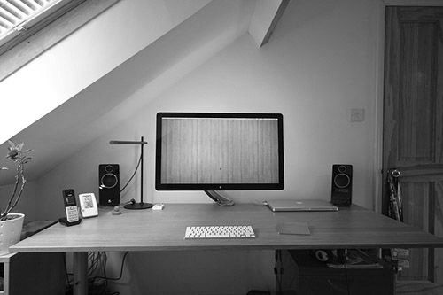 New Home Office Setup Mac White Alex Drawers Solid Buther