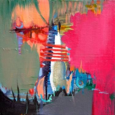 """Saatchi Art Artist Sandra Vucicevic; Painting, """"A STUDY OF SPACE IN PINK, Abstract Landscape"""" #art"""