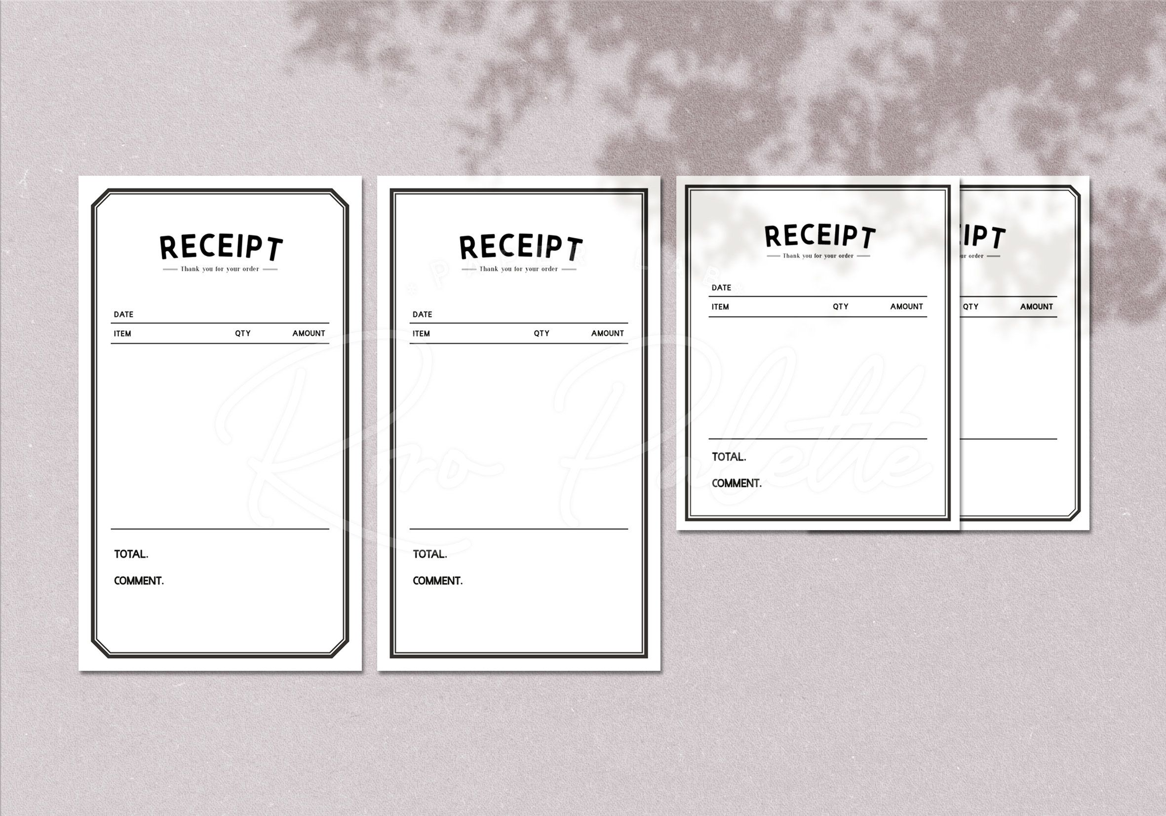 Printable Receipt Template Business Template Receipt Form Etsy In 2021 Receipt Template Business Template Invoice Template
