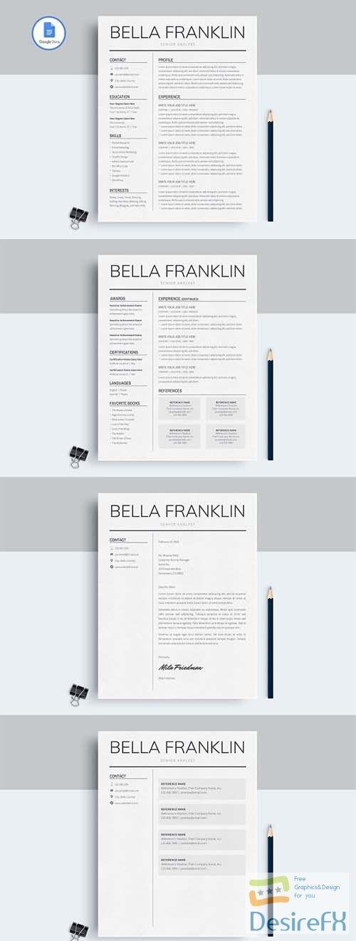 CreativeMarket - Google Docs Resume Template 2583436 Graphics - google docs resume templates