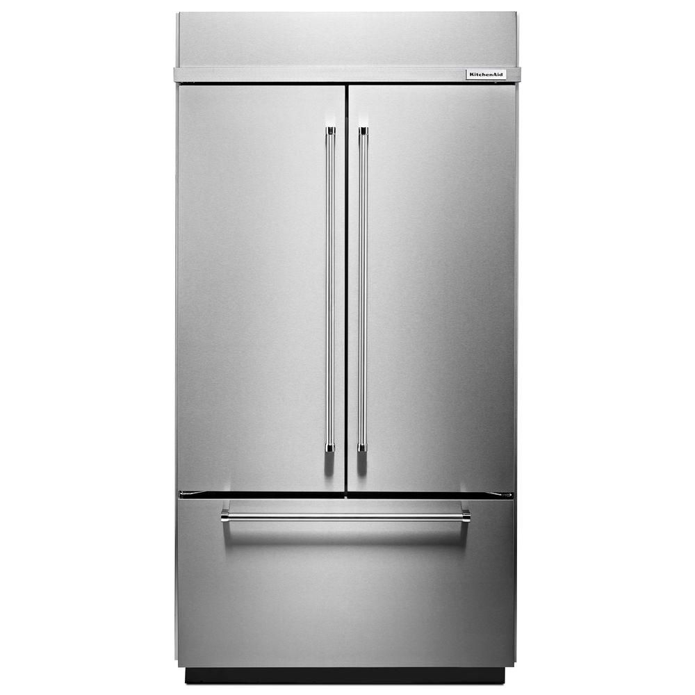 Kitchenaid in w cu ft builtin french door refrigerator