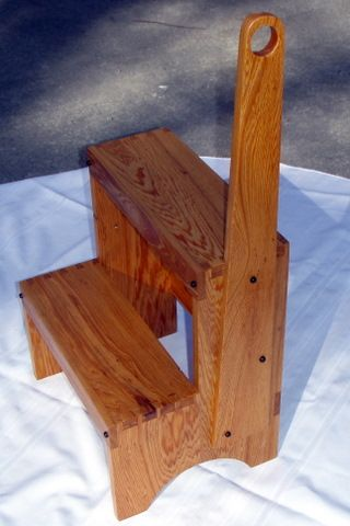 Shaker Step Stool Based On A Plan In Time Life Woodworking Series Recycled Soft Wood With Polyurethane Wood Step Stool Step Stool Wooden Step Stool Wooden step stool with handle