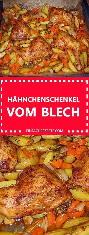 Hähnchenschenkel vom Blech #recettepoulet