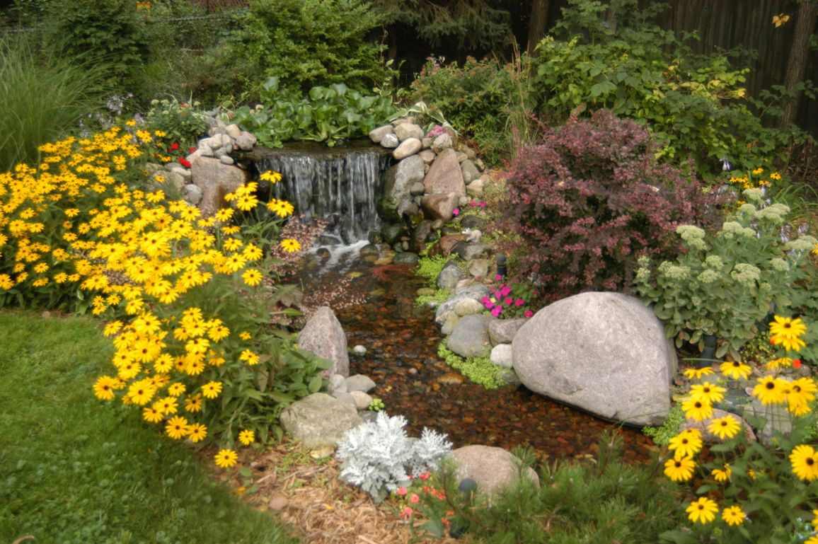 Pond Before and After Photos | Small waterfall, Garden stream and ...