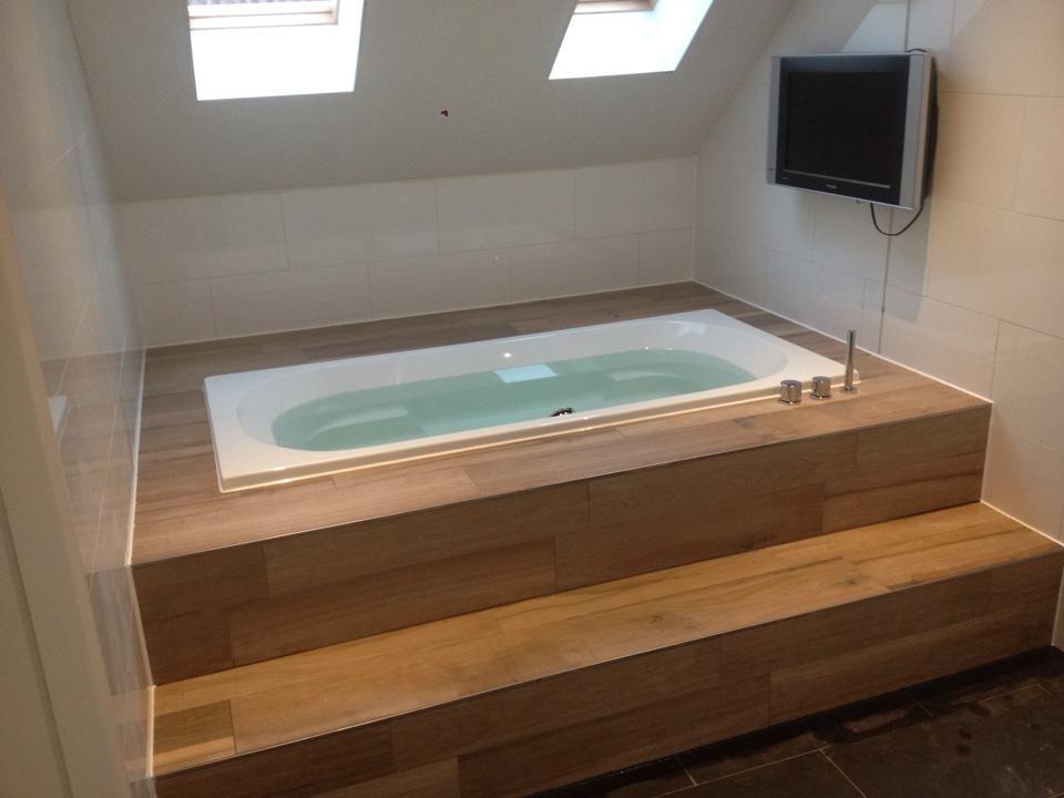 bad inbouwen in hout - Google zoeken Badkamers en WCs Pinterest
