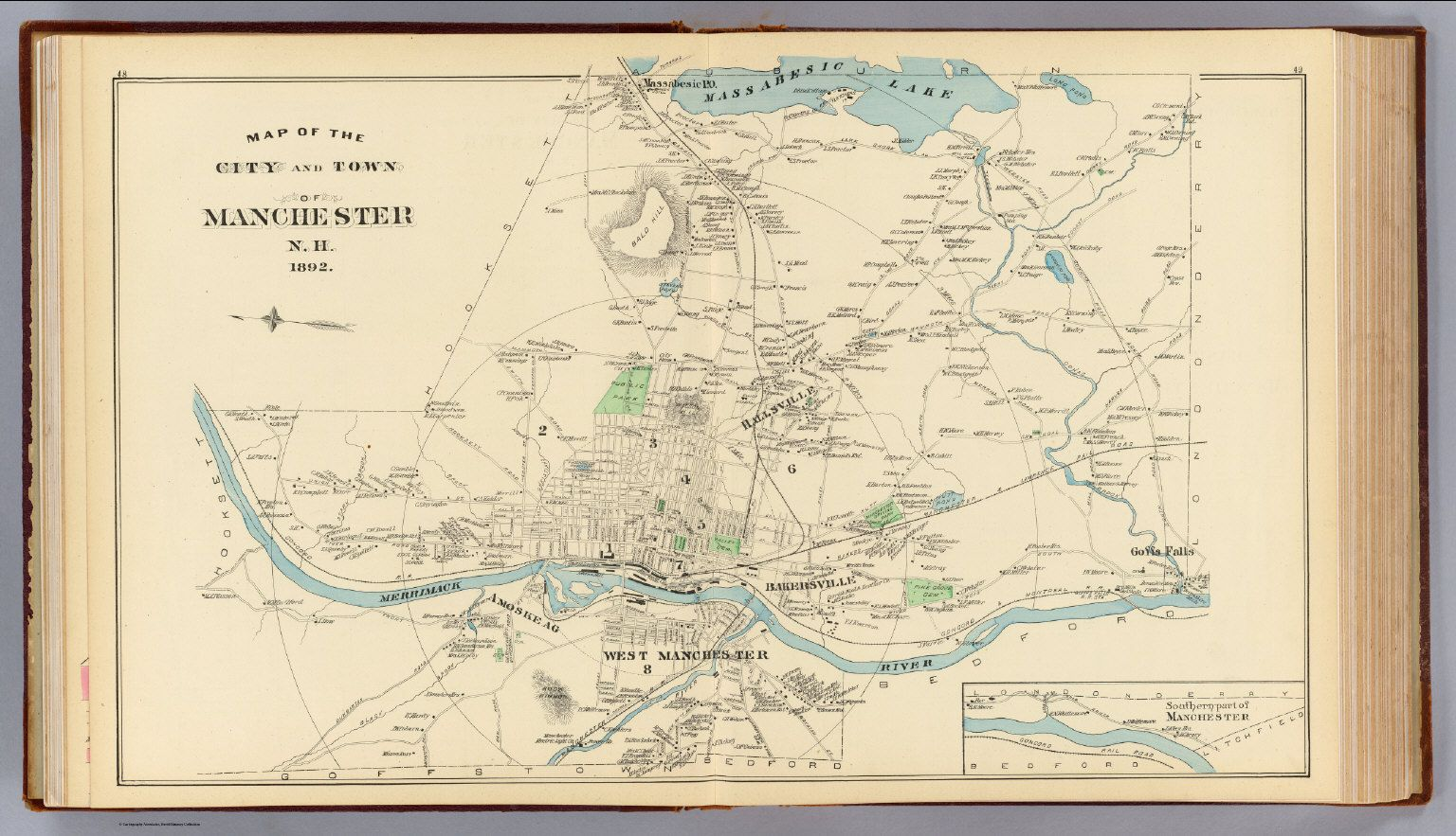 old map of manchester nh manchester nh pinterest manchester