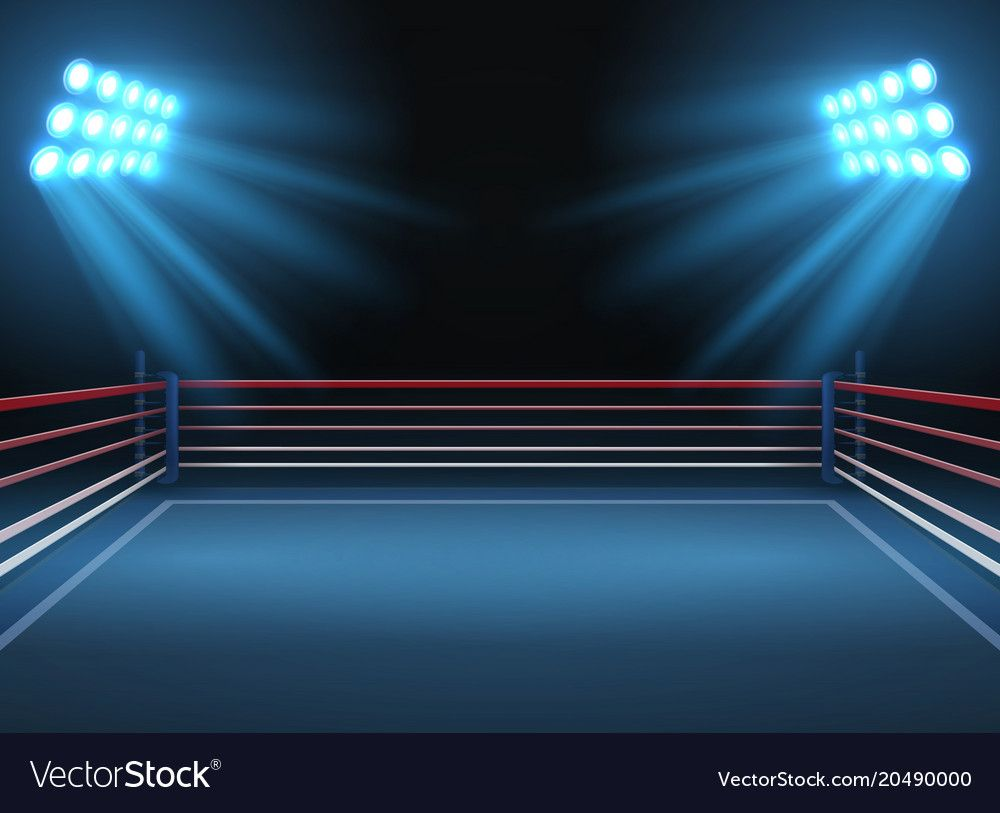Empty Wrestling Sport Arena Boxing Ring Dramatic Vector Image On Vectorstock Episode Backgrounds Episode Interactive Backgrounds Sport Illustration