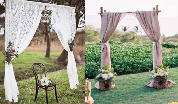 Collage altar bodas arreglos y deco fiestas boda for Jardin al aire libre de madera deco