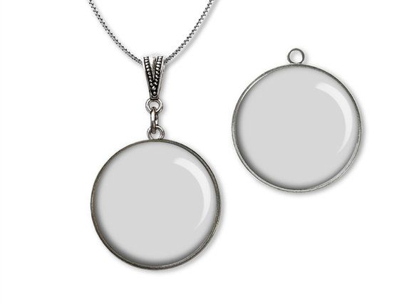 digital photo template for round silver 25 mm by templates4sellers