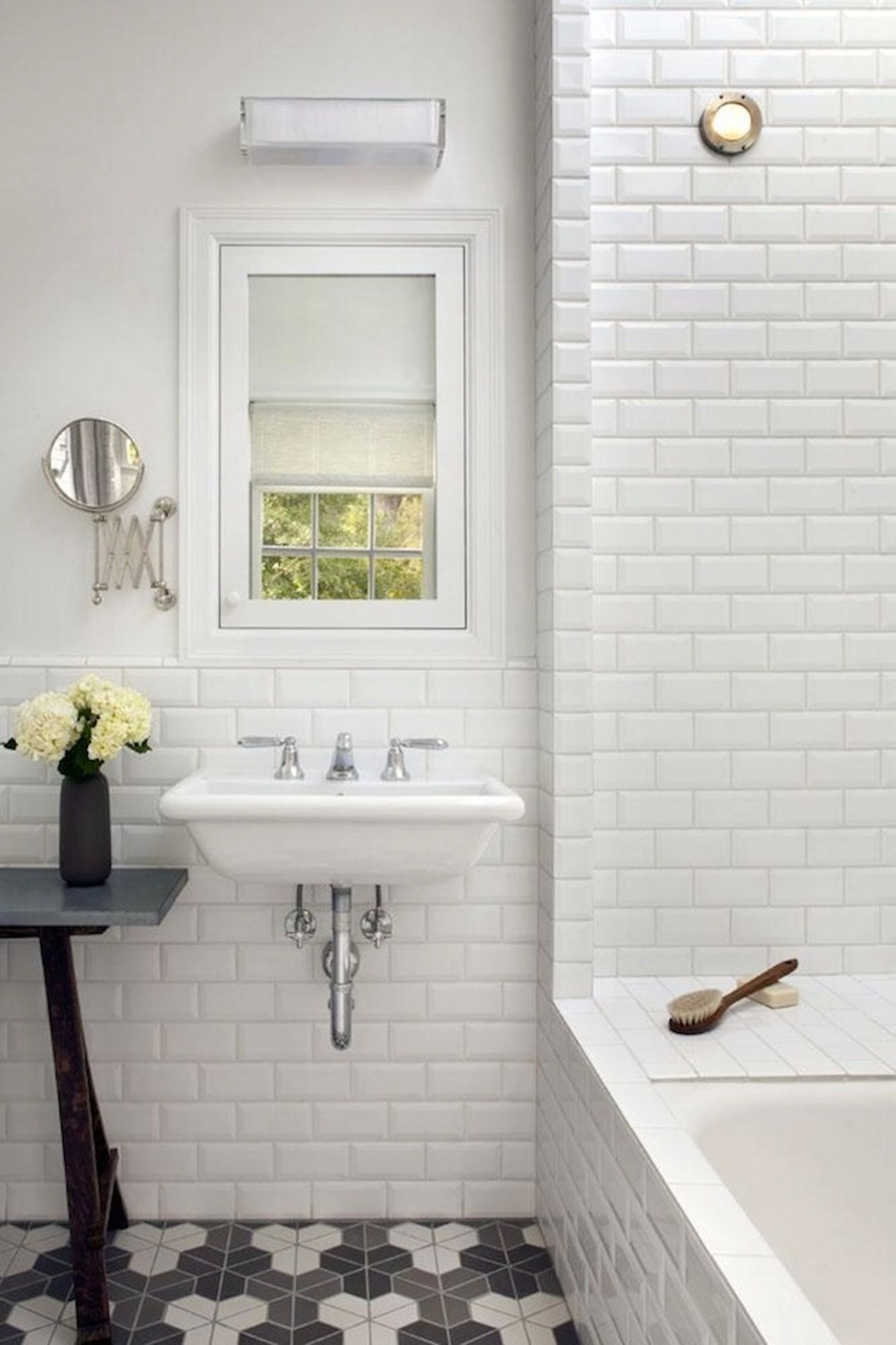 Look We Love: Beveled Subway Tile | Subway tiles, Marbles and Bath