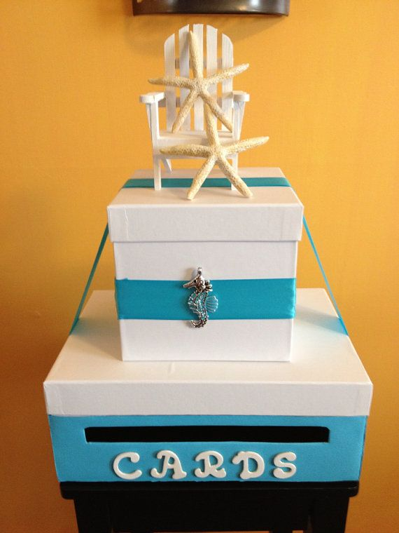 Beach Themed Wedding Card Money Box By ShabbyChicBoxes On Etsy