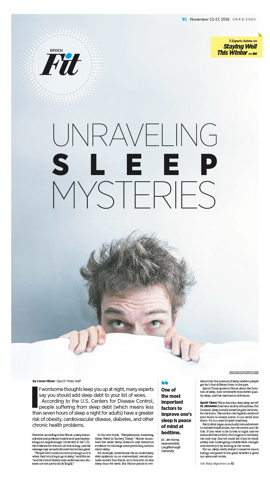 Unraveling Sleep Mysteries|Epoch Times #Health #newspaper ...