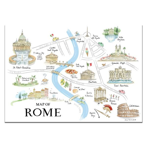Alice Tait 'Map of Rome' Print - Alice Tait Shop