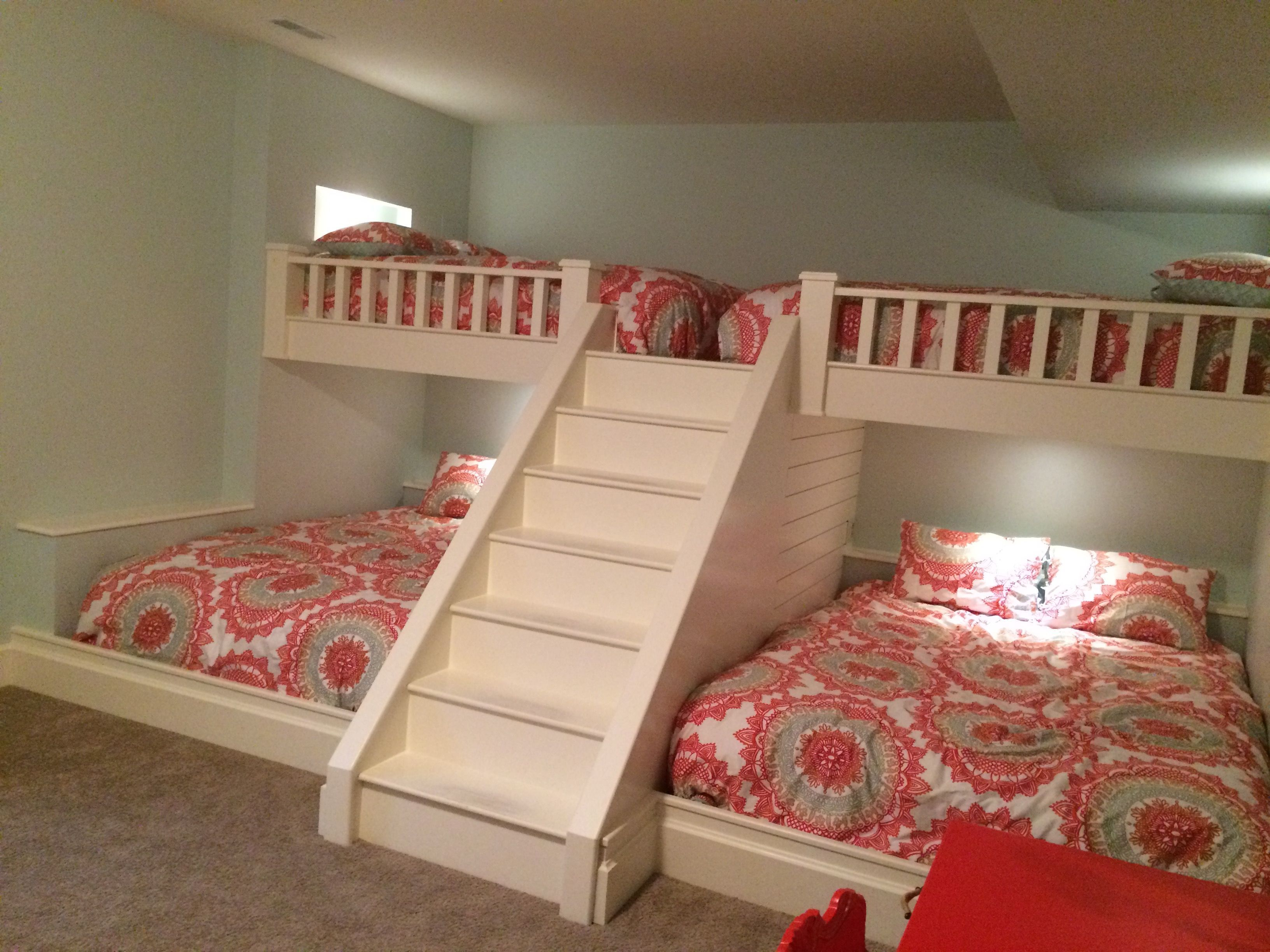 Custom Made Bunk Beds Queen Beds On Top And Bottom Outlets And