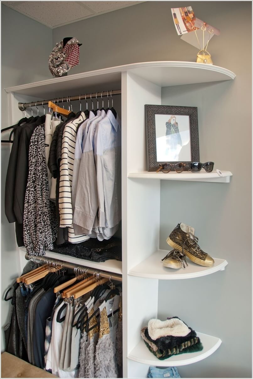 10 Cool And Clever Diy Corner Closet Ideas 7 Corner Closet Open Closet No Closet Solutions